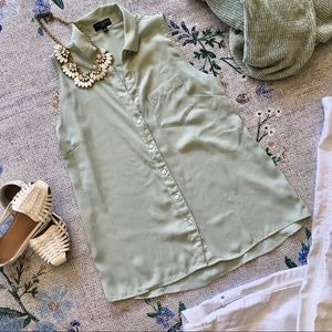 The Limited S light green button up work top shirt